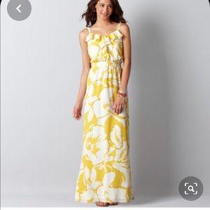 LOFT Hibiscus Floral Maxi Dress